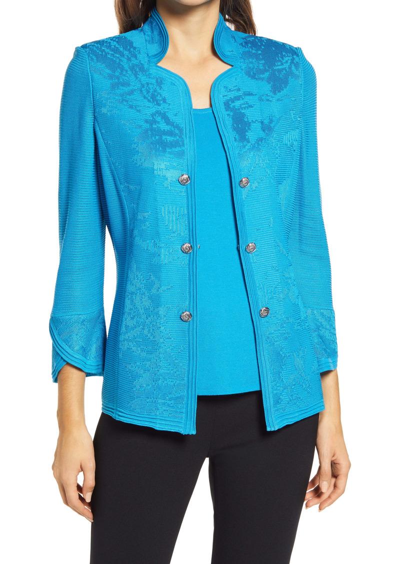 Ming Wang Jacquard Jacket
