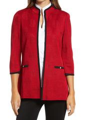 Ming Wang Jacquard Knit Jacket