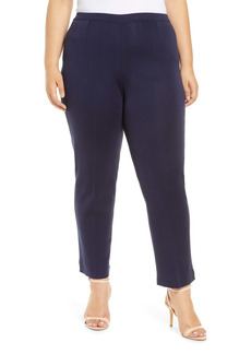 Ming Wang Knit Ankle Pants (Plus Size)