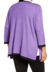 Ming Wang Knit Jacket (Plus Size)