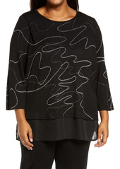 Ming Wang Layered Look Tunic (Plus Size)