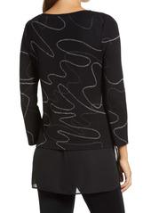 Ming Wang Layered Look Tunic Sweater
