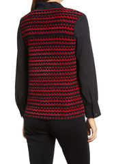 Ming Wang Layered Sweater