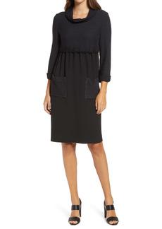 Ming Wang Mock Two-Piece Knit Dress
