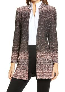 Ming Wang Ombré Tweed Jacket