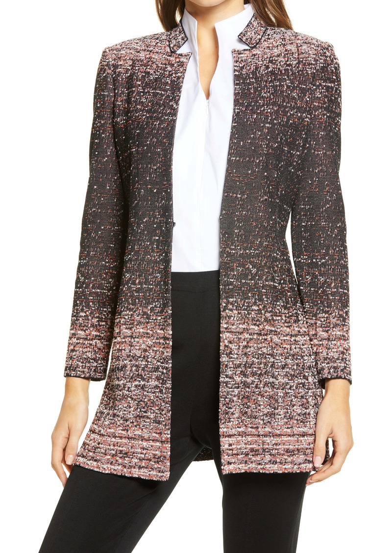 Ming Wang Ombré Tweed Jacket