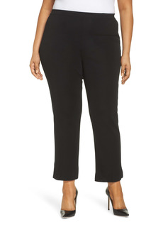 Ming Wang Pull-On Ankle Pants (Plus Size)