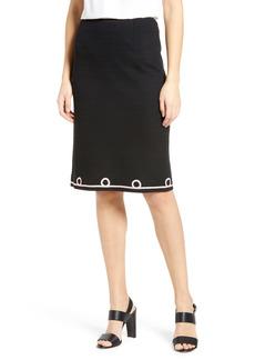 Ming Wang Ribbon Trim Skirt