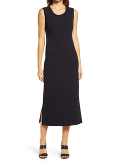 Ming Wang Sleeveless Midi Dress