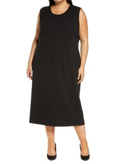 Ming Wang Sleeveless Midi Dress (Plus Size)
