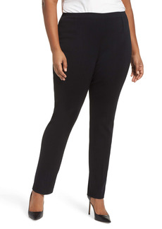 Ming Wang Slim Leg Pants (Plus Size)