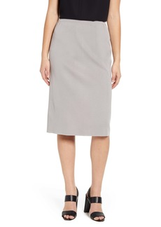 Ming Wang Straight Knit Skirt
