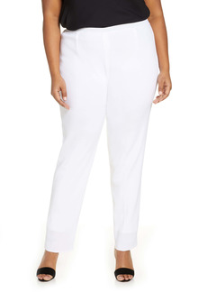 Ming Wang Straight Leg Knit Pants (Plus Size)