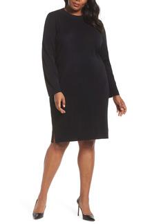 Ming Wang Sweater Dress (Plus Size)