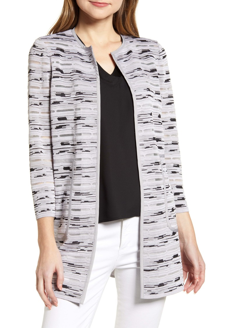Ming Wang Textured Mixed Media Jacket