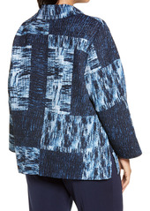 Ming Wang Textured Patchwork Pattern Jacket (Plus Size)