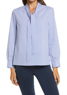 Ming Wang Tie Neck Blouse