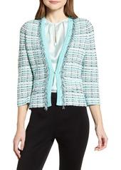 Ming Wang Tweed Jacket