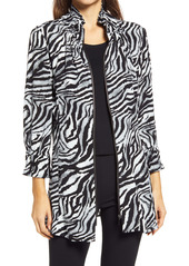Ming Wang Zebra Print Jacket
