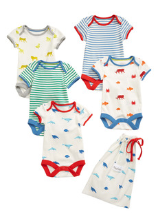 Mini Boden Assorted 5-Pack Bodysuits (Baby)