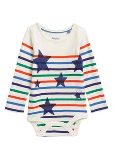 Mini Boden Star Stripe Bodysuit (Baby)