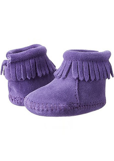 Minnetonka Suede Back Flap Bootie (Infant/Toddler)