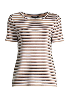 Misook Striped Knit T-Shirt