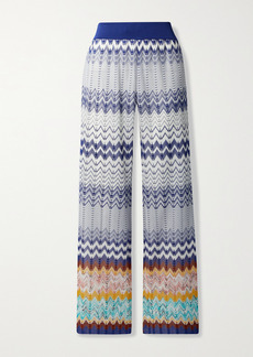 Missoni Crochet-knit Straight-leg Pants