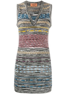 Missoni knitted cashmere sweater-vest dress