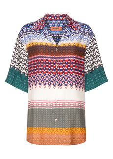 Missoni Chevron Short Sleeve Bowling Shirt