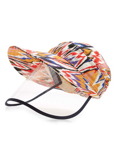 Missoni Flame Stitch Print Baseball Cap with Face Shield
