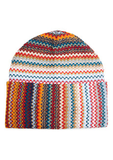 Missoni Metallic Zigzag Wool Blend Beanie