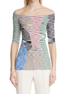Missoni Off the Shoulder Knit Top