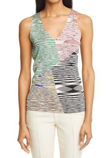 Missoni Space Dye Patchwork Sweater Tank