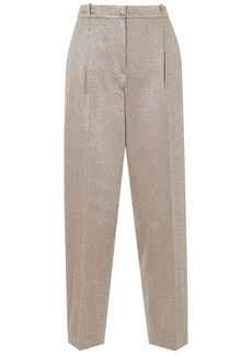 Missoni Woman Metallic Knitted Straight-leg Pants Platinum