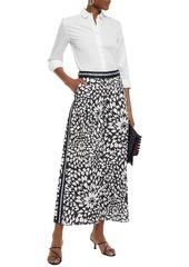 Missoni Woman Printed Cotton-poplin Culottes White