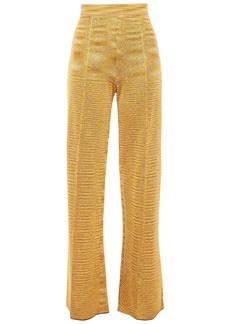 Missoni Woman Sequin-embellished Crochet-knit Wide-leg Pants Gold