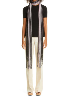 Missoni Zigzag Extra Long Metallic Wool Blend Skinny Scarf (Nordstrom Exclusive)