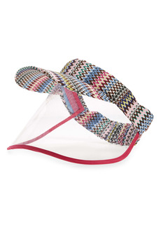 Missoni Zigzag Print Visor with Face Shield