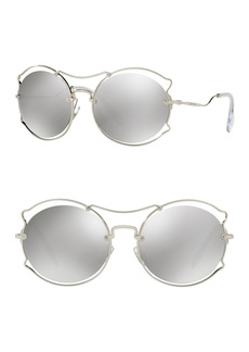 Miu Miu 57mm Irregular Framed Sunglasses