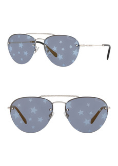 Miu Miu 59mm Aviator Sunglasses