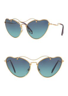 Miu Miu 65mm Irregular Butterfly Sunglasses