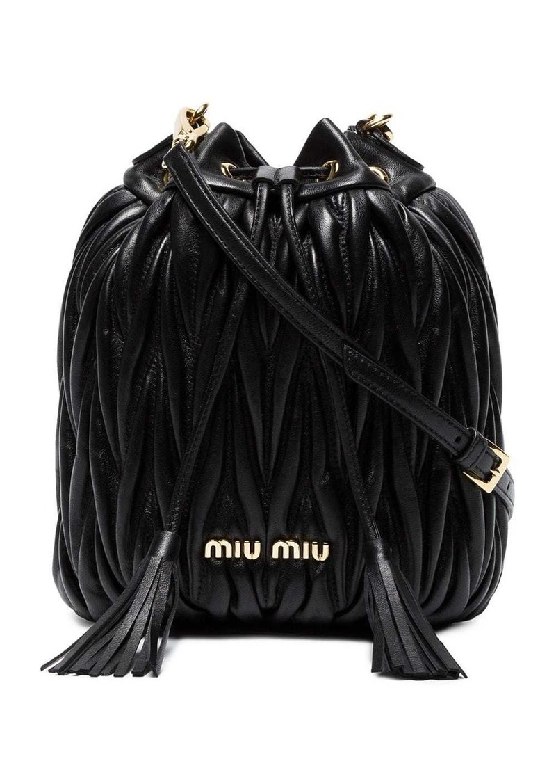 Miu Miu matelassé bucket bag