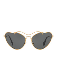 Miu Miu Butterfly 55mm Metal Frame Sunglasses