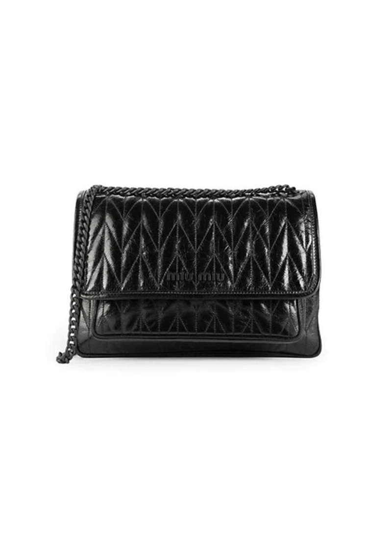 Miu Miu Chevron-Quilted Leather Shoulder Bag