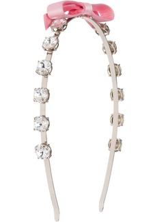 Miu Miu crystal embellished headband