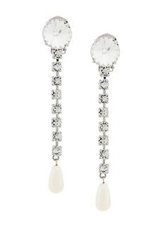 Miu Miu crystal pearl drop earrings