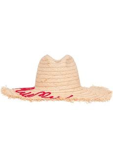Miu Miu embroidered logo hat