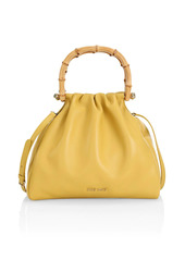 Miu Miu Leather & Bamboo Top Handle Bag