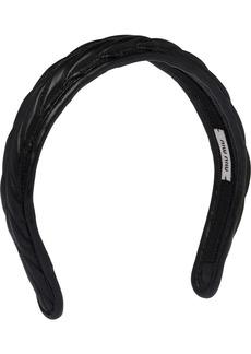 Miu Miu matelassé-effect headband